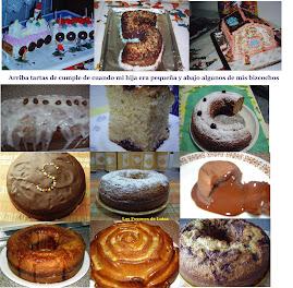 Algunas tartas caseras y bizcochos
