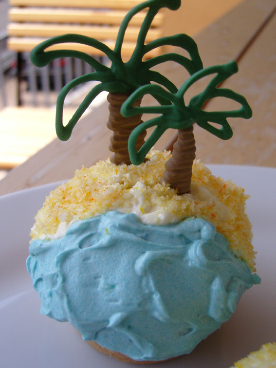 Reif-für-die-Insel-Cupcakes
