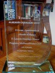 """Premio Alhendín Verde. Programa de Educación Ambiental """"Lupus Hamdan""""."""