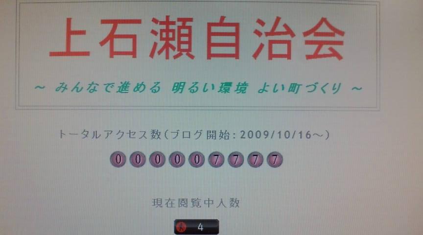 記念アクセス数:7,777