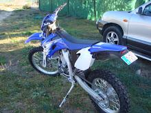 La moto de Carlos( Yamaha wr 450 4 t)