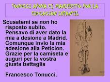 Gracias Tonucci, gracias maestro.
