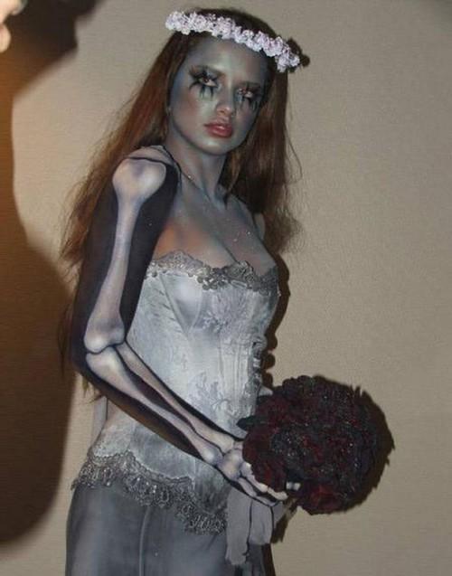 maquillaje novia cadaver halloween