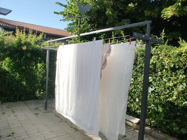 Stendibiancheria da giardino per lenzuola pannelli - Stendibiancheria esterno ...