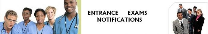 entrance exams notifications