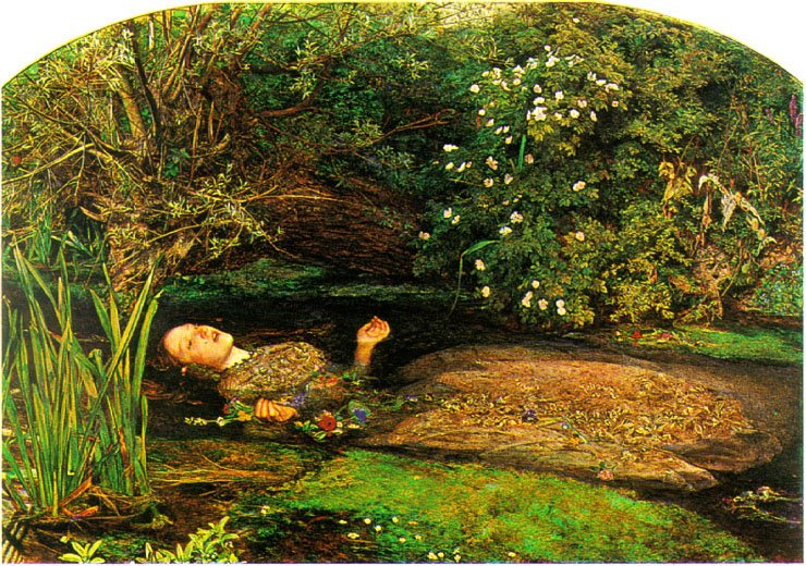 Sir John Everett Millais - Ofélia (1851-52)