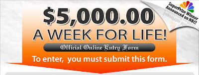 5000 Week Life Sweepstakes PCH