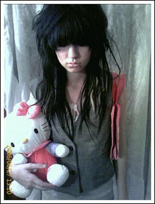 scene girls hairstyle pink black hairstyle for guys