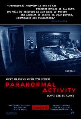 paranormal activity, movie, film, poster