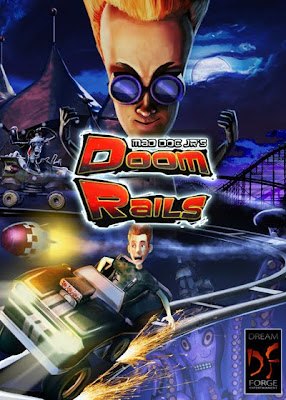 doom rails, video, game, cover, poster