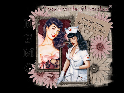 bettie page wallpaper. Art © Bettie Page™ / © Olivia,