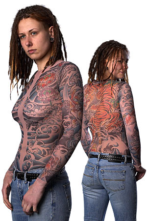 tattoo for girls. Girls Sleeves Tiger Full Body