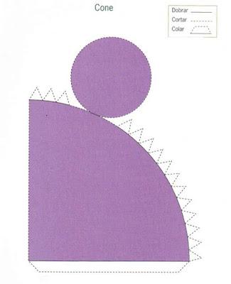 cone Figuras Geométricas para crianças