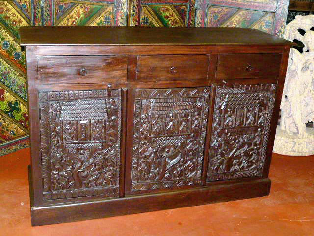 Fresh idea to design your Antique Indian Wooden Door Coffee Table