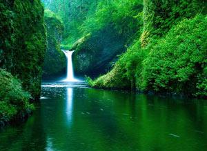Rio de águas cristalinas e tranquilas