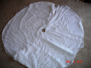 Wedding Gown to Christmas Tree Skirt photo 6