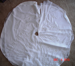 Wedding Gown to Christmas Tree Skirt photo 7