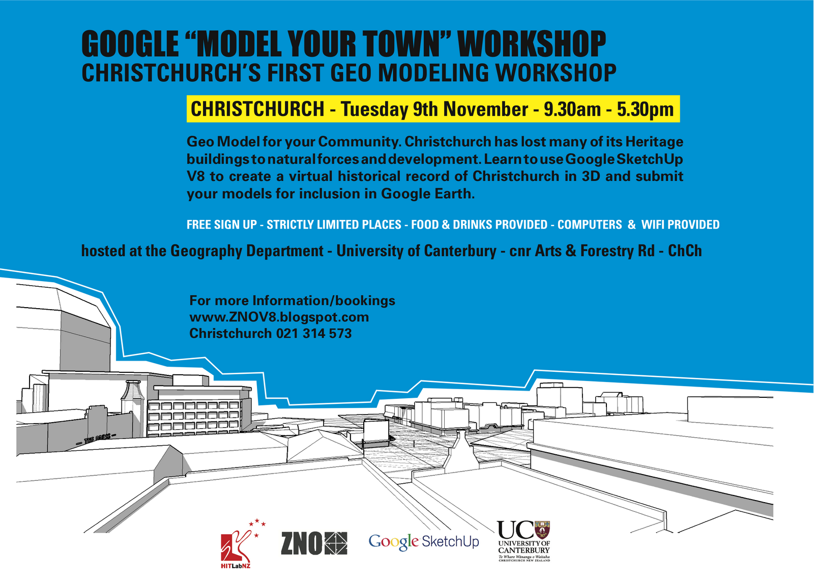 Zno google sketchup v8 workshops christchurch workshops for Landscape design courses christchurch