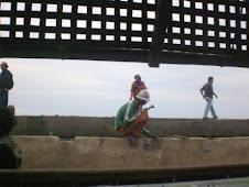 Pekerja pembangunan Tanggul Marunda