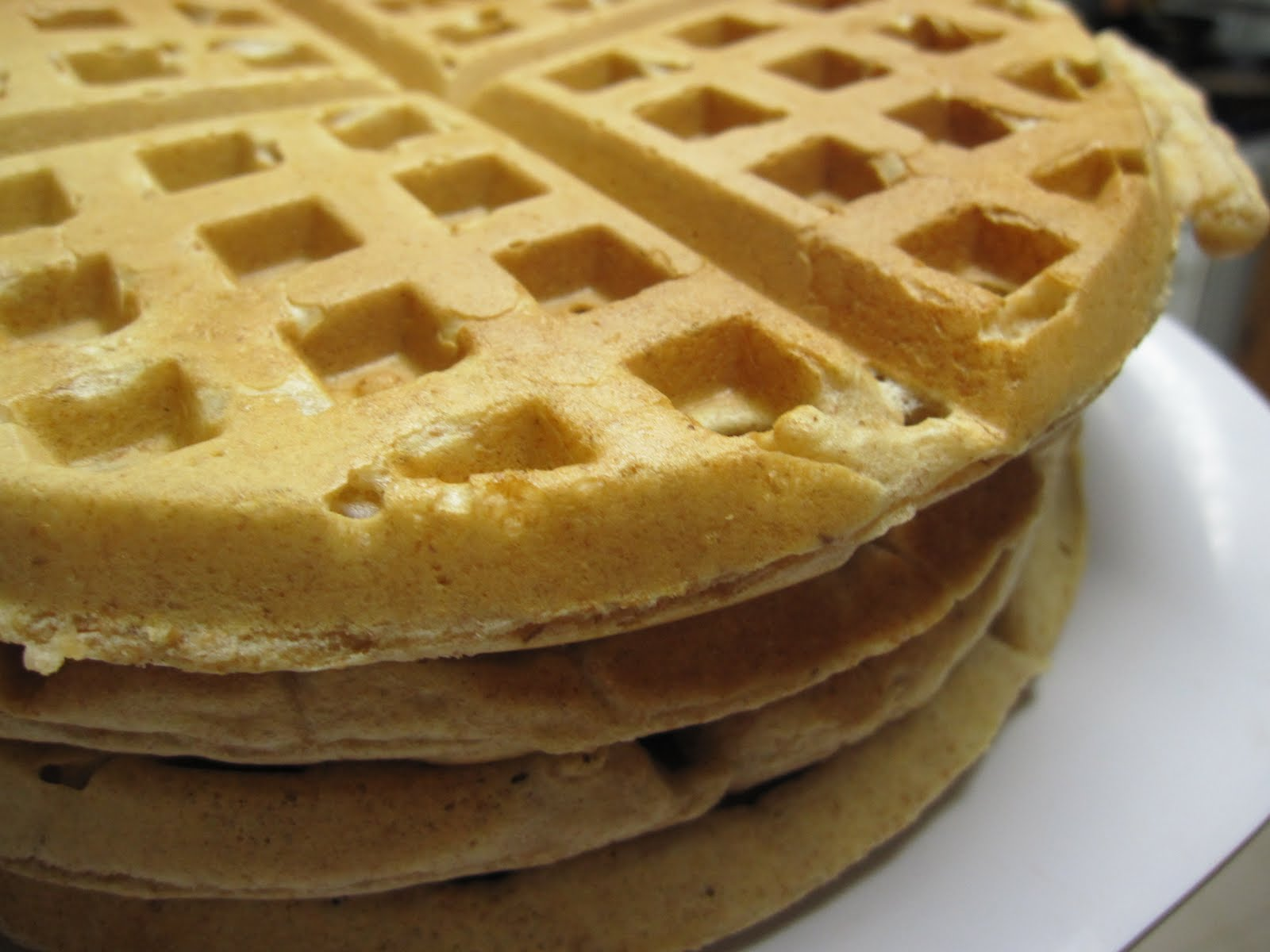 The Scratch Patch: Whole Wheat Peanut Butter Waffles