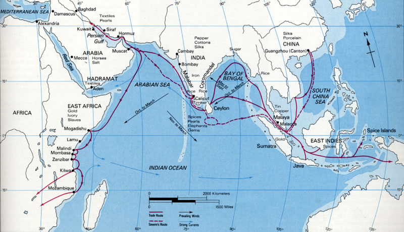 indian ocean trade network 100 1500 One of the mediterranean trade routes, called via maris, also known as the way of the sea, reaches egypt tes: the largest network of teachers in the world.