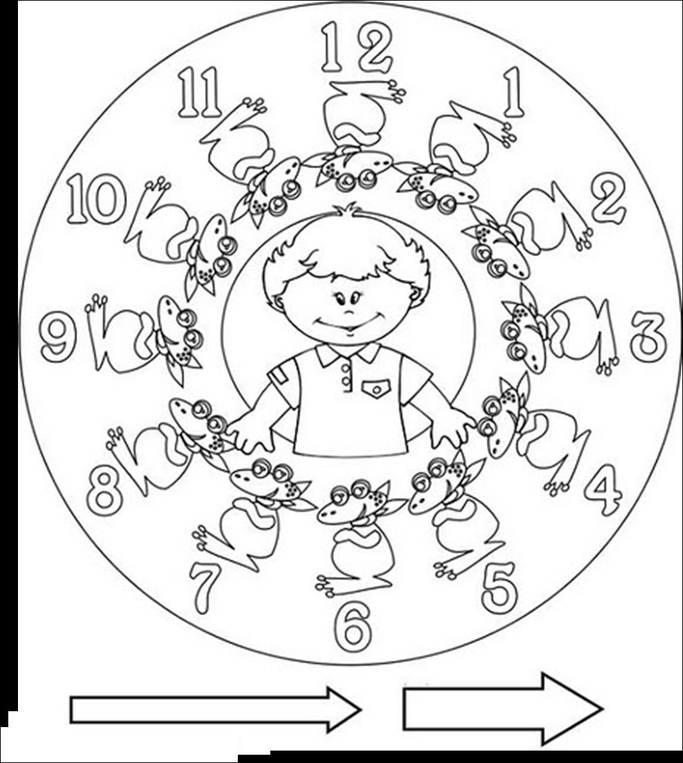 Asombroso Tiempo Para Colorear Para Preescolar Motivo - Dibujos Para ...