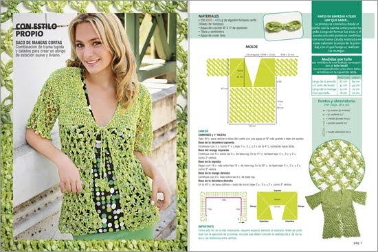 Puntos calados crochet para chalecos - Imagui