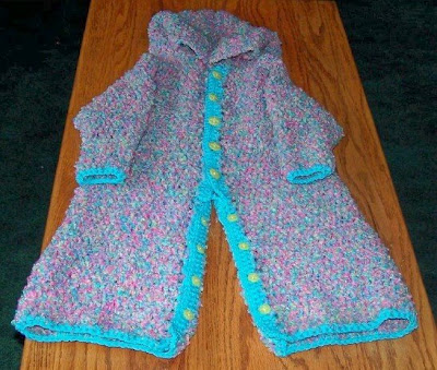 custom crocheted snow suit