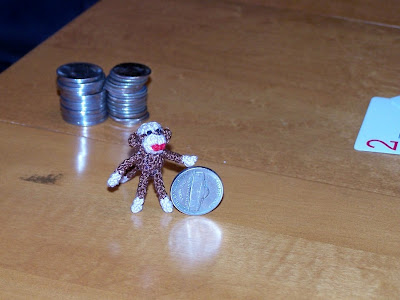 sock monkey miniature