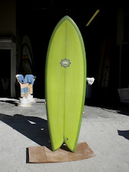 "5'8"" Bing Twin Fin Fish #9960."