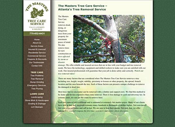 Visit the Maters Tree Care for Atlanta, GA