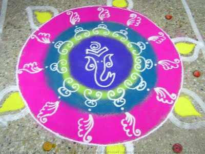 amazing rangoli design