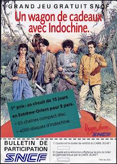 blanc-dumont concert indochine affiche sncf 1986