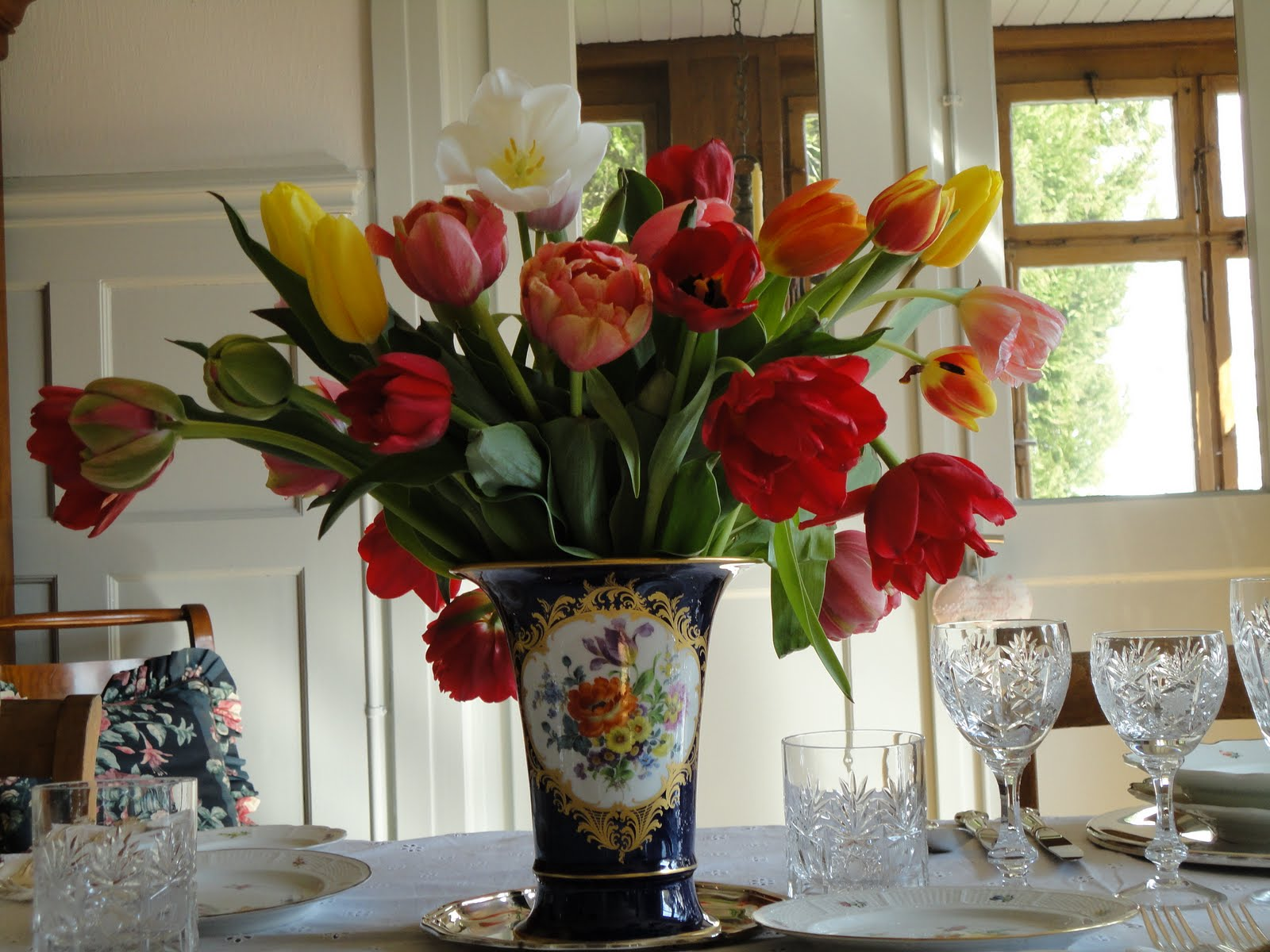 Beautiful Nymphenburg Tablescape