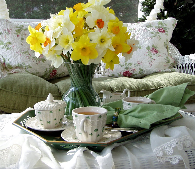 St. Patrick's Day Table Setting Tea Party