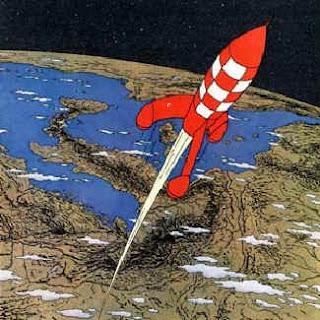 Quoi de neuf dans l 39 espace - Image fusee tintin ...