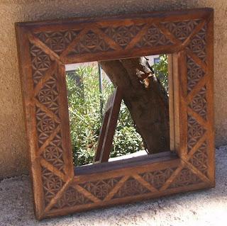 Artesan a tope y cu a septiembre 2010 for Espejos con marco en madera