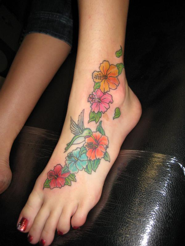 Henna Tattoo Design on Foot