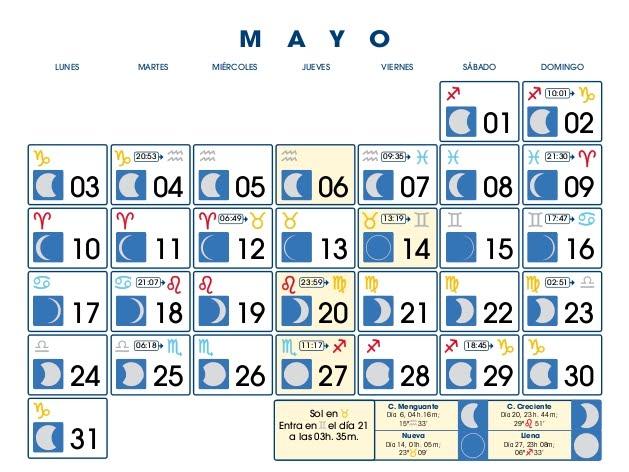 Centro astrologico venezolano calendario lunar mayo 2010 for Fase lunar mayo 2016