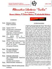 Alternativa Libertaria Sicilia Aprile 2009