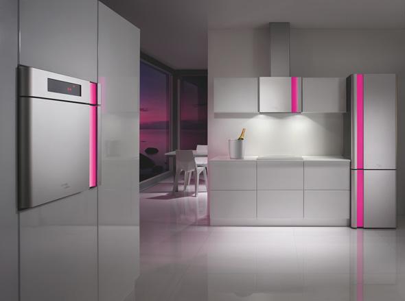 Kitchen remodel designs karim rashid kitchen - Cocinas rojas y blancas ...