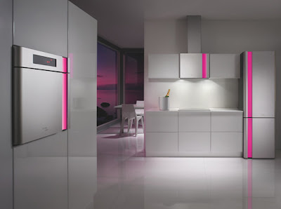 KRashid ambient Hot Pink night The Touch of Light, Futuristic Appliances for Kitchen by Karim Rashid