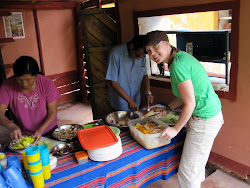 Cooking lunch in Peru