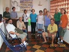Artistas de Itararé na casa da Terezinha Iluminada
