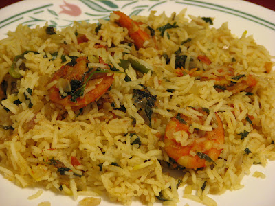 Healthy Eating: Royyalu Biryani (Prawns Biryani/Shrimp Biryani)