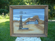 Hand Painted Country Scene