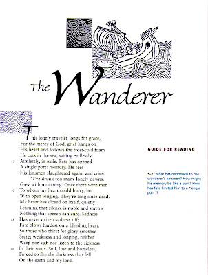 the theme behind the poems the wanderer and the seafarer These three poems are some of the better-known examples of old english elegiac poetry the theme of the outcast, someone who is now alone and outcast from.