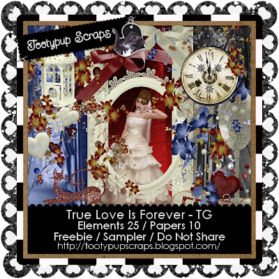 "Scrapbook Freebie ""True Love"" by tootypupscraps"