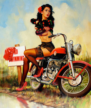 Girl on Event News  David Uhl S Newest Pin Up Girl Comes To Daytona Bike Week