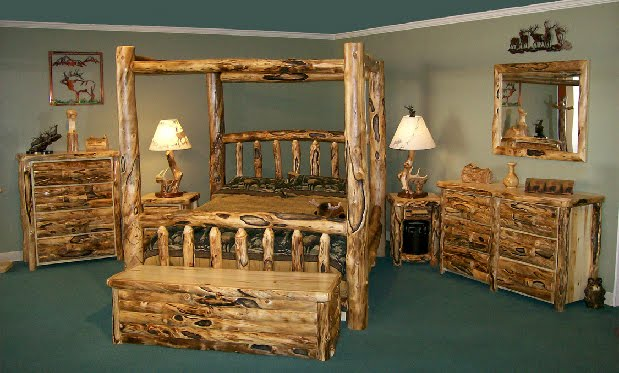 Consumed by angela rustic log furniture of utah - Log bedroom furniture ...